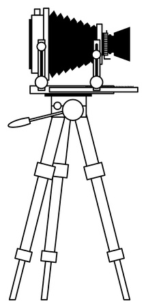 tripods: Antique view camera