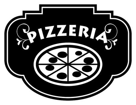 mozzarelle e formaggi: Pizzeria segno Vettoriali
