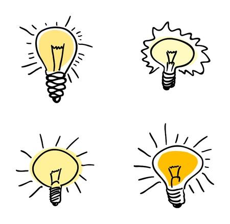 Light bulb set Stock Vector - 14561920