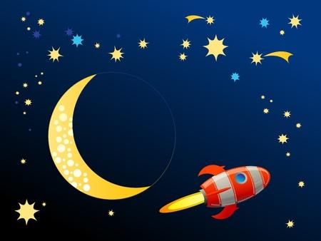 Rocket in space Stock Vector - 14539023