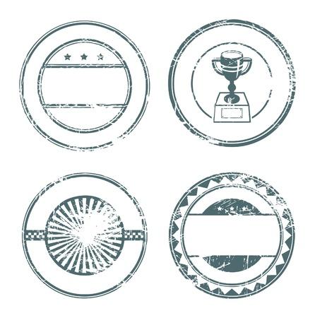 Resumen sello de vacío de caucho grunge creado con espacio para texto Ilustración de vector