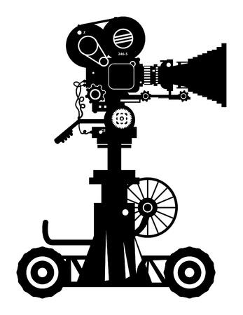 ressalto: Câmera profissional retro filme cinema Ilustra��o