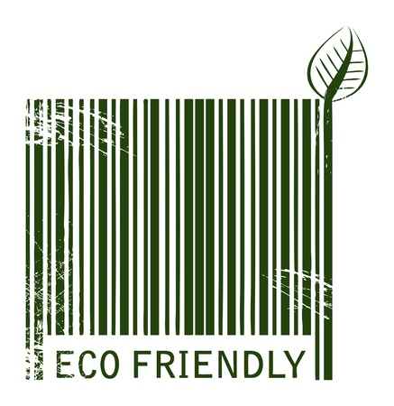 recycle sign: Barcode Eco Friendly Illustration