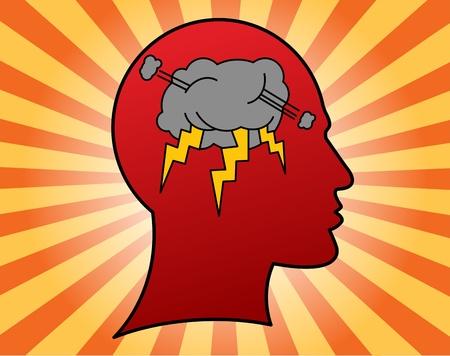 Storm in the head Vector