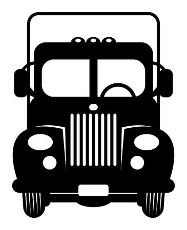 car grill: Retro Truck