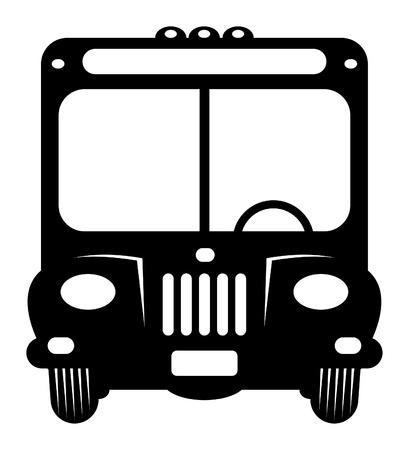 cartoons designs: Bus Retro Vettoriali