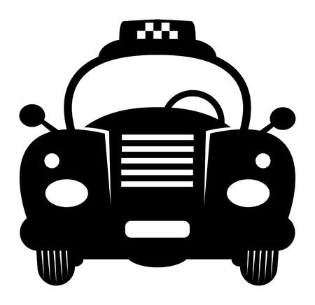 Taxi Retro Car Vector