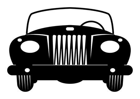 car grill: Convertible Retro Car