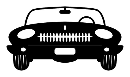 Convertible Retro Car Stock Vector - 14600083