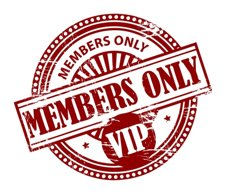 people only: Grunge rubber stamp with the words Members Only, VIP inside