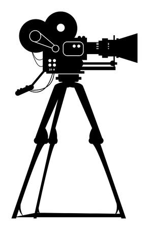 movie camera: Film cinema camera Illustration
