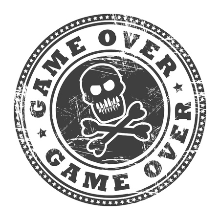 Grunge rubber stamp with text Game Over Vector
