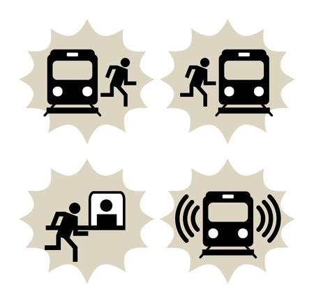 metro: Lot of train station icon