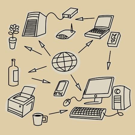 Office communication symbols Stock Vector - 14624733
