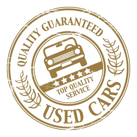 Used car stamp Vector