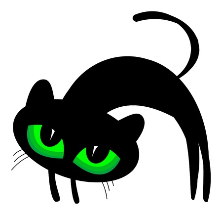 dark eyes: Black cat