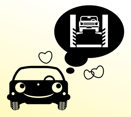 Car thinking about repair Vector
