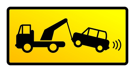 tow: Traffic sign - no parking Illustration