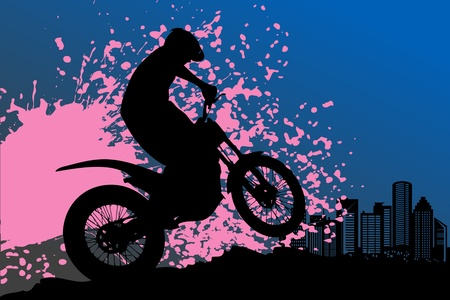off track: Motocross background Illustration