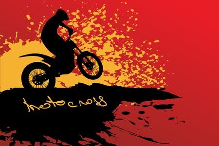 Motocross background Stock Vector - 14666306