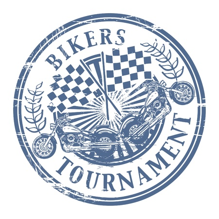 Bikers Tournament stamp Vector