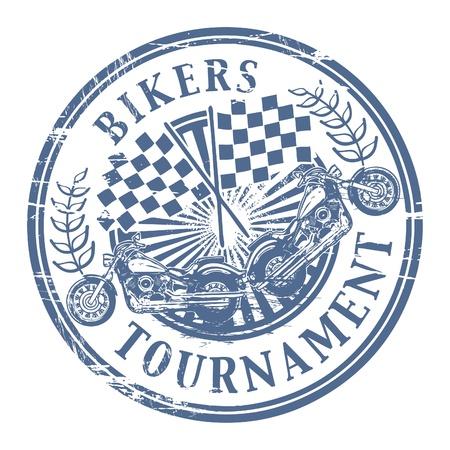 Bikers Tournament stamp Vector