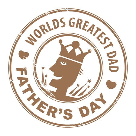 father s day: Abstract grunge stamp with text Father s Day