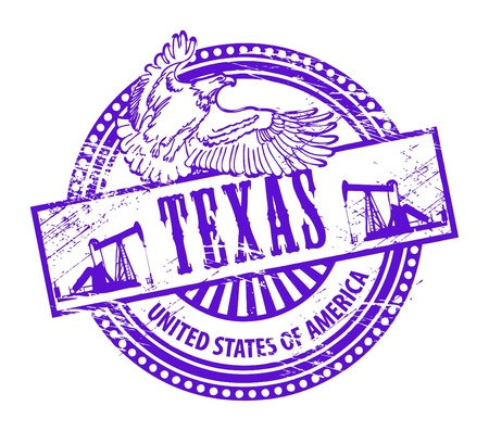 Grunge rubber stamp with name of Texas Stock Vector - 14666304