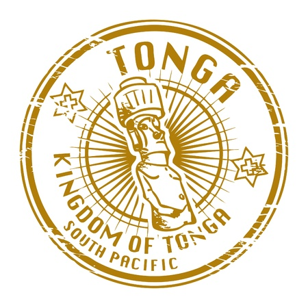 samoa: Grunge rubber stamp with name of Tonga Illustration