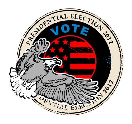 renuncia: Grunge sello con el voto palabra escrita dentro del sello