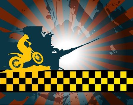 motorbike jumping: Motocross background Illustration