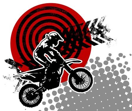 sujeira: Motocross fundo