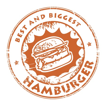 Stamps with the word hamburger inside Vector