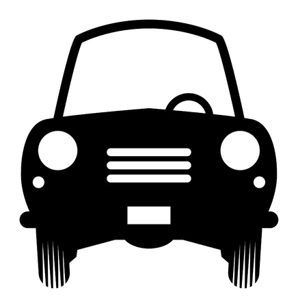 car drawing: Small car symbol