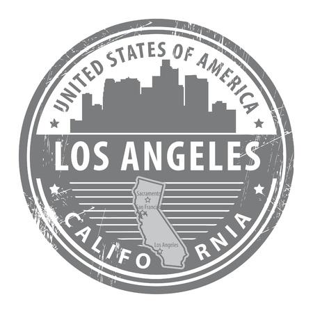 Grunge rubber stempel met de naam van Californië, Los Angeles