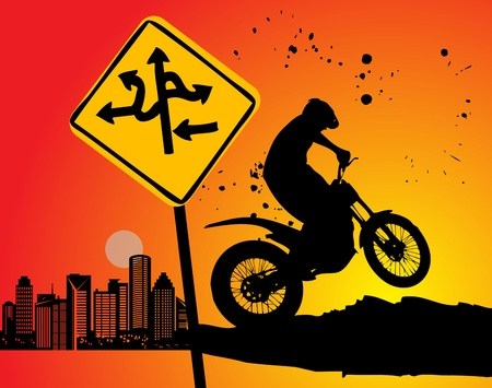 off road: Motocross background Illustration