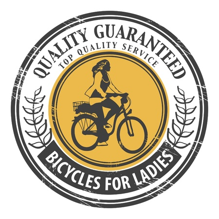 Bicycles for Ladies stamp Vector
