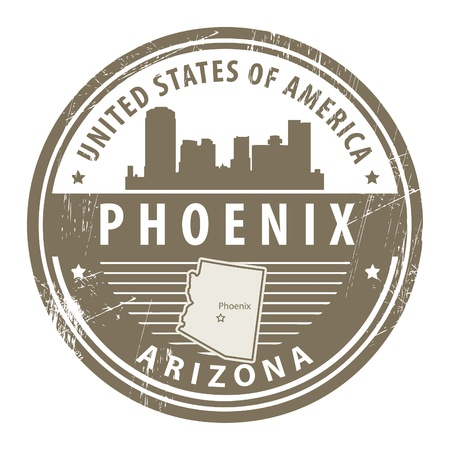 Grunge rubber stamp with name of Arizona, Phoenix Vector