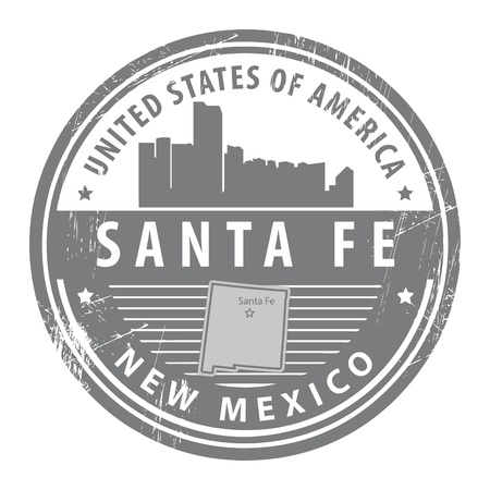 fe: Grunge rubber stamp with name of New Mexico, Santa Fe
