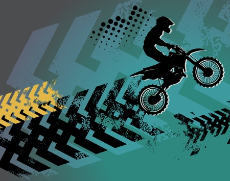 motorbike race: Motocross background Illustration