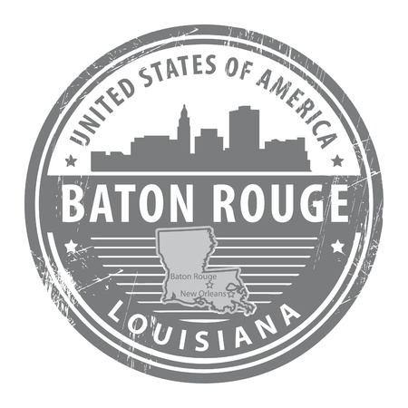 Grunge rubber stamp with name of Louisiana, Baton Rouge Stock Vector - 14975926