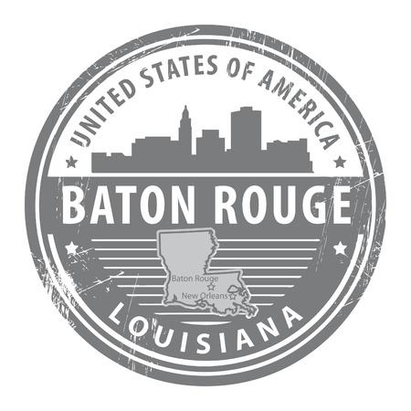 estafette stokje: Grunge stempel met de naam van Louisiana, Baton Rouge