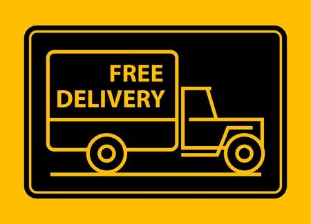 Camion de livraison de la prestation de texte libre