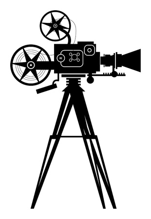 film set: Vintage cinema camera Illustration