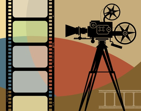 film frame: Abstract cinema background