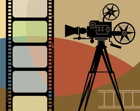 cinema old: Cinema astratto sfondo Vettoriali