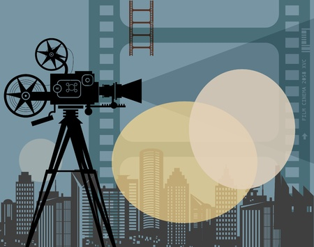 Fondo abstracto de cine Ilustración de vector