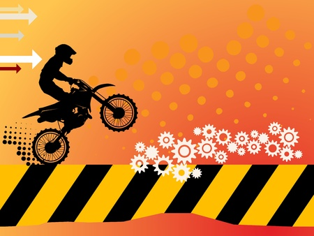 Motocross background Stock Vector - 14975931