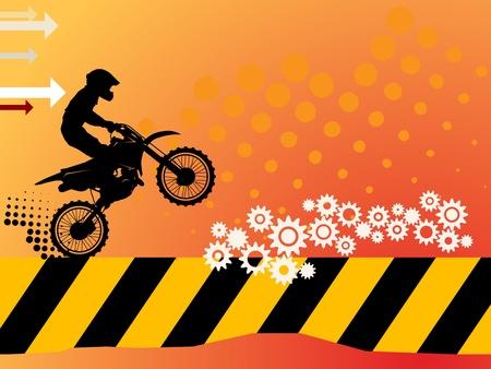 Motocross background Vektorové ilustrace