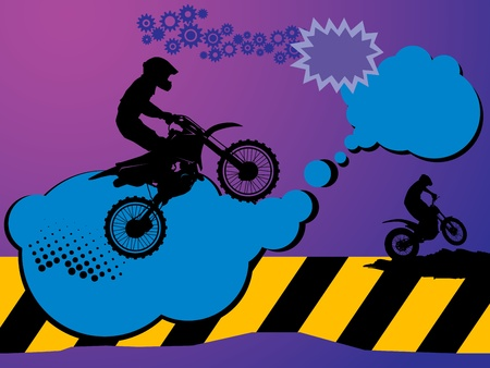 motor cycle: Motocross background Illustration